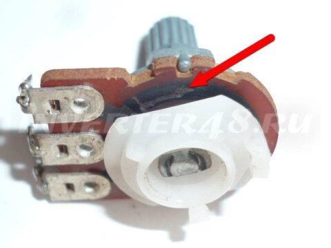 ARIA INVERTOR SW 260 переменный резистор установки тока 20кОМ, подгорел и увеличил своё сопротивление до 260кОм