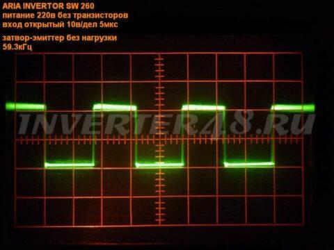 Осциллограммы сварочного инвертора АРИА-ИНВЕРТОР SW 260