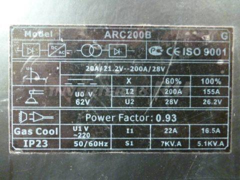 Характеристики инвертора BRIMA ARC 200 B