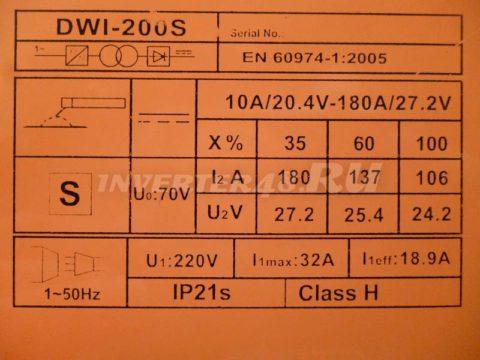 Характеристики сварочного инвертора DEFORT DWI 200 S