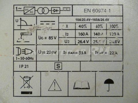 Характеристики сварочного инвертора ETALON WMM 160 PB