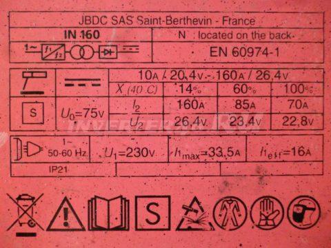 Характеристики FUBAG IN 160 PCB 63961 IND1