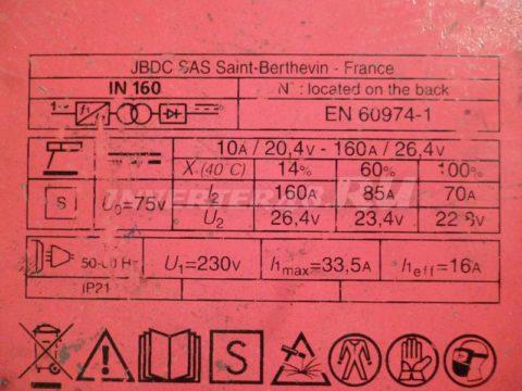 Характеристики инвертора FUBAG IN 160 PCB 64171 IND11