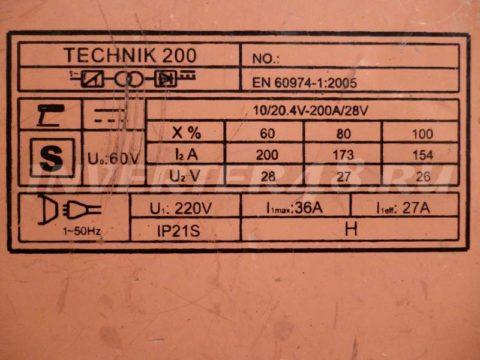 Характеристики сварочного инвертора SDMASTER TECHNIK 200