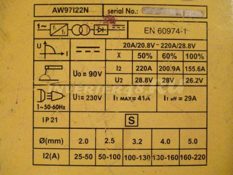 Характеристики инвертора STURM AW97I22N