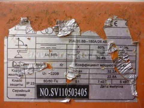 Характеристики сварочного инвертора СВАРОГ ARC 200 II (R50)